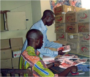 Sorting textbooks for distribution