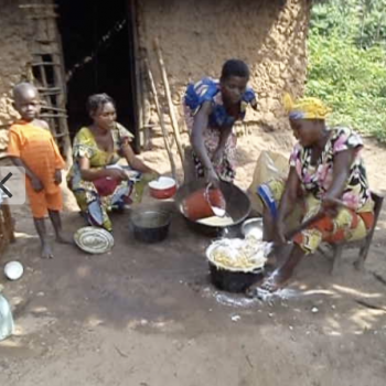 Women cook for construction team